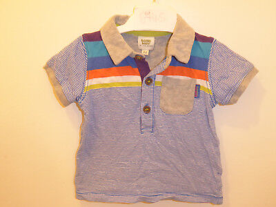 TED BAKER - Smart Baby Boys DESIGNER Blue Polo Top T-Shirt 0-3 Months Newborn