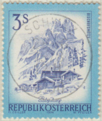 Austria 1974 Architecture Buildings Houses - 3 s Postage Used Stamp Hinged