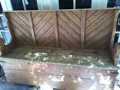 Antique Settle Bench late 1800s Originally from Nashville area