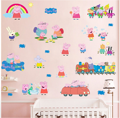 Peppa Pig wall sticker multi pack child's room wall decal UK 989