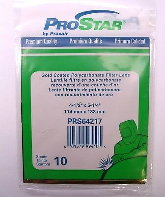 "ProStar Gold Coated Filter Lens PRS64217 Shade 10 Polycarbonate 4.5"" x 5.25"""