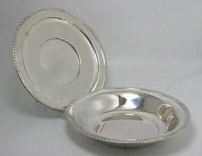 Sterling Silver Tray and Bowl by Preisner