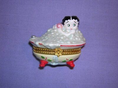 Betty Boop Porcelain Trinket Box, 1999 King Features
