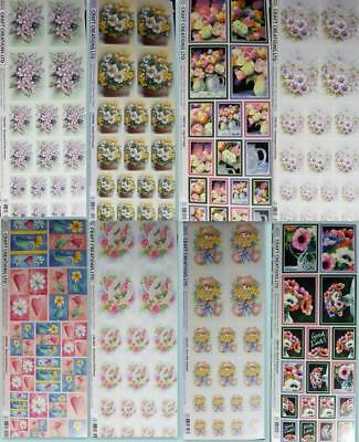 Craft Creation Adhesive Stickers Flowers Bear Roses Viola Tulips Anemones Heart