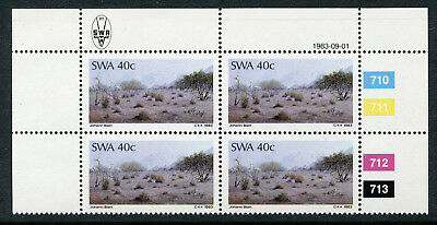 1983 South West Africa.  Painters of South West Africa.  40c block of 4 MUH.