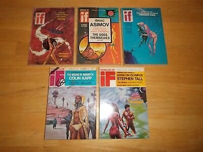 IF Worlds of Science Fiction (Lot of 5 Digest Magazines) 1972  (5 of 6 issues)