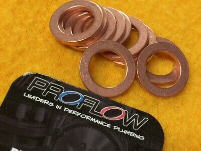 10mm Copper crush washers x 10 179-10MM Proflow