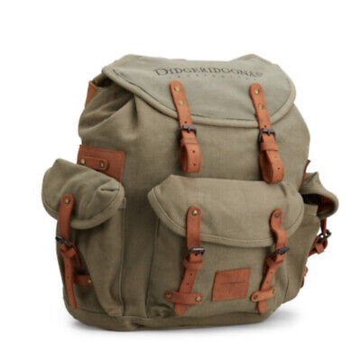 Didgeridoonas The Rucksack /Sturdy and rugged canvas / Green Colour