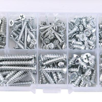 1 Box Stainless Steel Pan Flat Head Self-Tapping Screws Assorted Kit Hot FW