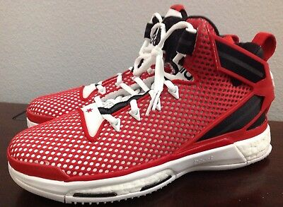 buy online 93ec6 db435 Adidas D Rose Boost GS Basketball shoes ART  AQ8722 Red Black  White Size