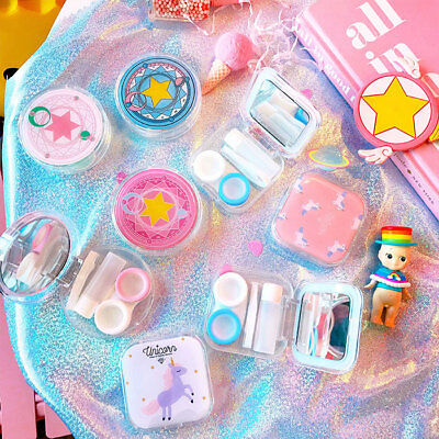 Lolita Girls Cardcaptor Sakura Magic Circle Pattern Luna Cat Contact Lens Box