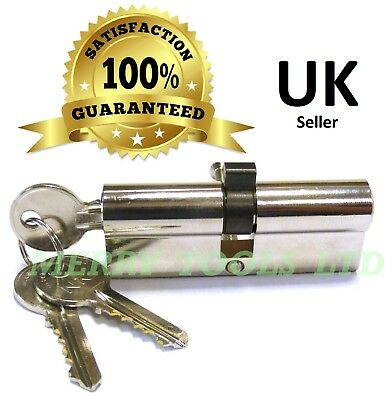 Replacement Euro Cylinder Lock Barrel UPVC Doors 80mm 3 Keys 40/40