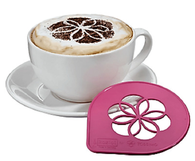 Tassimo Koziol Cappuccino Latte Stencil Cocoa Foam Print For Coffee - Pink NEW