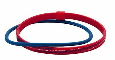 Phiten RAKUWA Anklet S Slash Line Lame Type Red/Navy  23cm (9.05in) from Japan*