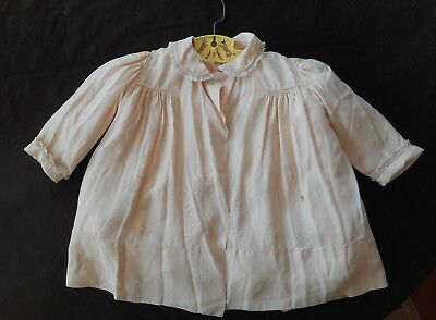Vtg. Silk Baby Coat, Hand Made Yolande, Embroidery And Lace, Removable Liner