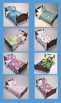 Dolls House Bedding Set -1/12 Handmade - 'Peter Rabbit' Single Bed size -List 2