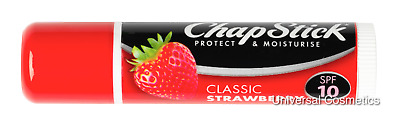 Chapstick Classic Strawberry Lip Lips Balm Moisturise SP10
