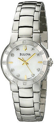 Bulova 96R173 Diamond Mother of Pearl Dial Stainless Steel Women's Watch