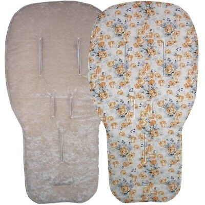 Jillyraff Reversible Seat Liners to fit Bugaboo pushchairs - Sand Designs