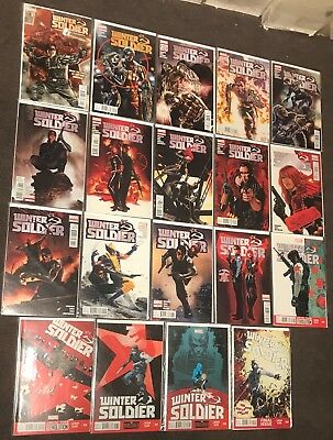 19 Winter Soldier Comics 1,2,3,4,5,6,7,8,9,10-19 Brubaker 2013 complete Set lot