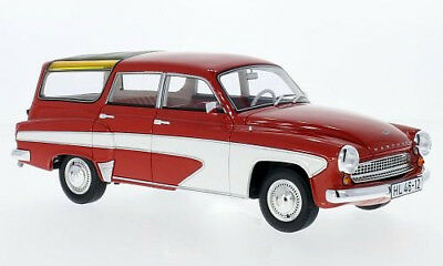 Wartburg 312 Camping Deluxe 1967 rot/weiss - 1:18 BOS  >>NEW<<