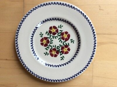 Nicholas Mosse Old Rose 19.5 cm Side Plate Spongeware Irish Pottery
