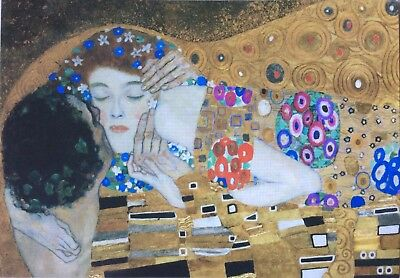 40 Gustav Klimt - The Kiss Art postcards collections / bulk lots unused #11