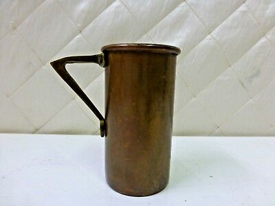 Antique Copper Mug Military Sailor Cup with Handle 3/4 C