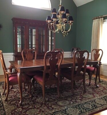 PENNSYLVANIA HOUSE OAK Formal Dining Room SET Table 6 Chairs