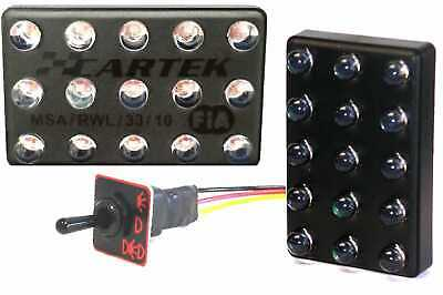 CARTEK Motorsport Rain Light FIA 3-Mode with switch Vertical Track Spec V6 GTI