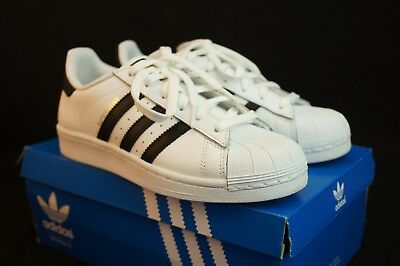 New Adidas Youth Originals Superstar J Gs C77154 White/black/white