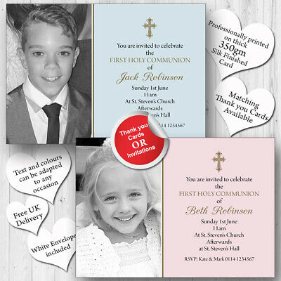 10 Personalised Invitations 1st First Holy Communion Confirmation H138