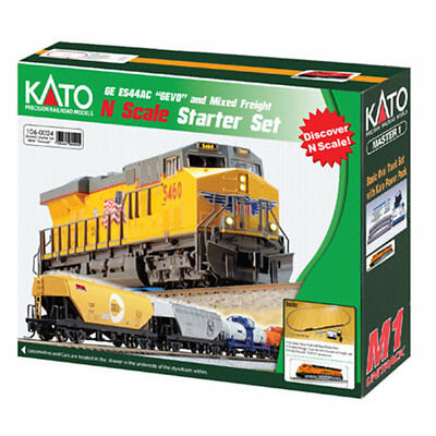 Kato-GE ES44AC GEVO Mixed Freight Starter Set -- BNSF Railway (Wedge), 6 Cars, U