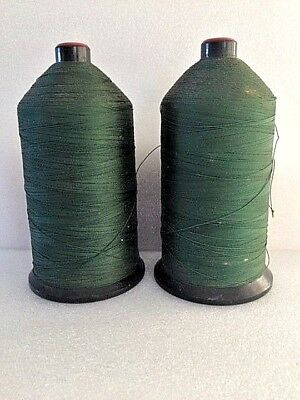 2 Industrial Sewing Machine Rice Nylon Thread Spools Green   Size Z-138   No. 20