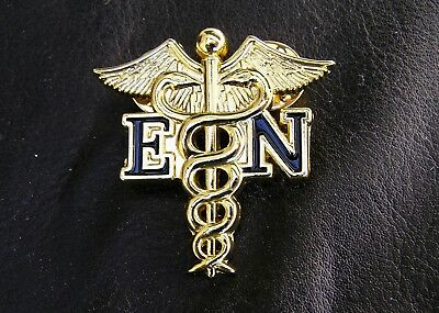 EN ENROLLED NURSE MEDICAL GOLD LOGO LAPEL PIN Badge Metal Emblem *NEW*