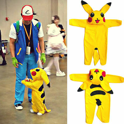 Newborn Baby Girl Boys Pokemon Pikachu Rompers Bodysuit Jumpsuit Outfit