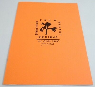 U2 Everything From Desert Springs Zine Joshua Tree RSD Record Store Day Book #d