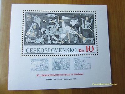 EBS Czechoslovakia 1981 Picasso International Brigades in Spain Block 45 MNH**