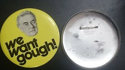 ALP Political Badges Gough Whitlam 1975 Dismissal Election Collectors Item