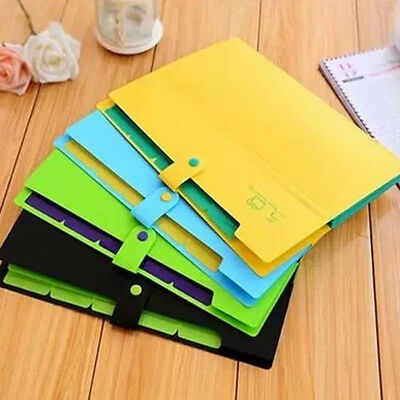 5Pockets A4 Size Accordion Button Expanding File Folder Holder Bags Organiser