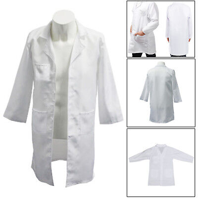 Kids White Lab Coat Doctor Scientist School Fancy Dress Childrens Cloth Boy Girl