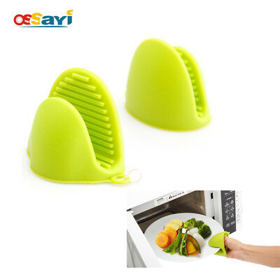 1Pc Silicone Heat Resistant Oven Mitts Kitchen Cooking Pot Holder Gloves