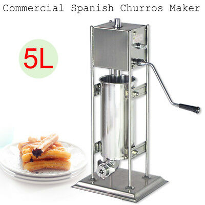 5L Commercial Manual Stainless Steel Hand Crank Churro Machine Maker Brand NEW