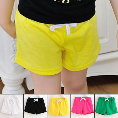 Baby Toddler Girls Summer Casual Beach Shorts Kids lace-up Shorts Pants Trousers
