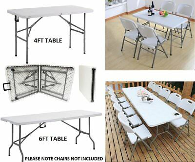 Heavy Duty 4/6FT Folding TableTrestle Camping Picnic Banquet Party Garden Tables