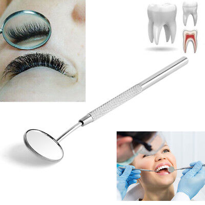 Stainless Steel Dental Mirror For Checking Eyelash Extension Applying Tools New