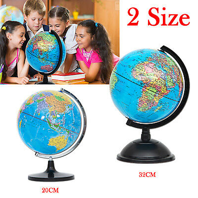 Rotating earth globe world map swivel stand geography educational 2032cm rotating world map earth globe swivel stand geography educational toy gumiabroncs Image collections