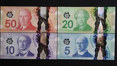 """CANADA""Rare""$5 10 20 50 Dollars""SUPERB GEM UNC""1 set 4 Banknotes"""