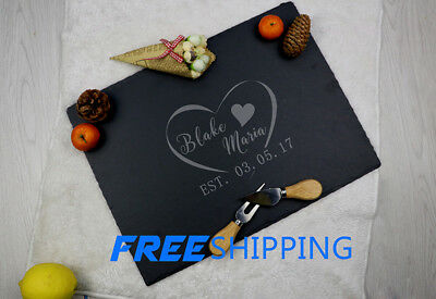 Personalized Bridal Shower Cheese Board,Custom Engraved Slate Service Tray,Gifts