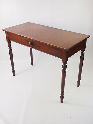 Antique Victorian Mahogany Writing Table - Desk Hall Serving Dressing Side Table